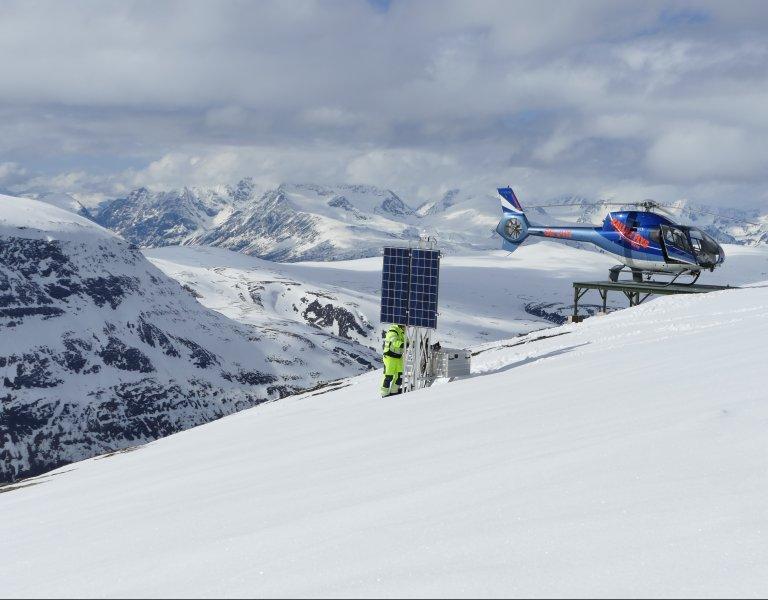 Efoy Pro Norwegen Berge Schnee Erdrutsch Sensoren Gnss