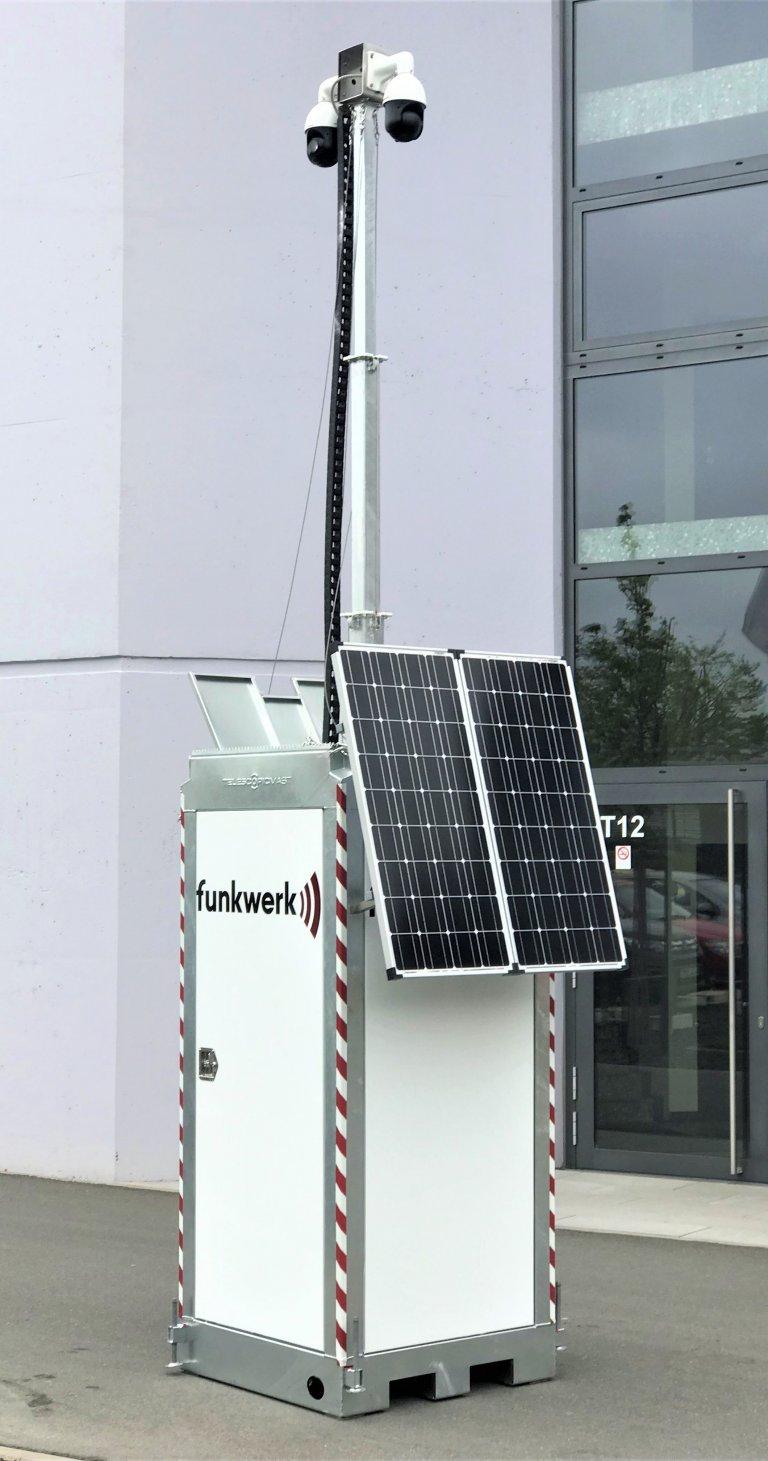 Funkwerk Mobile Kamerastation Brennstoffzelle Tower