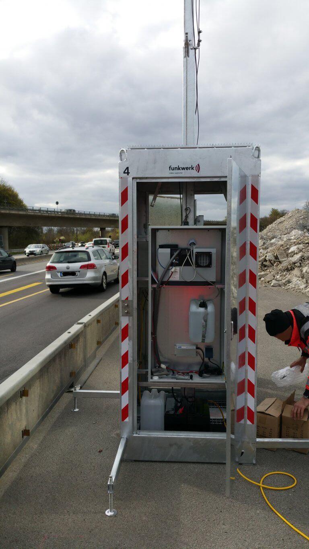 Mobile Kamerastation Ohne PV Autobahn Funkwerk