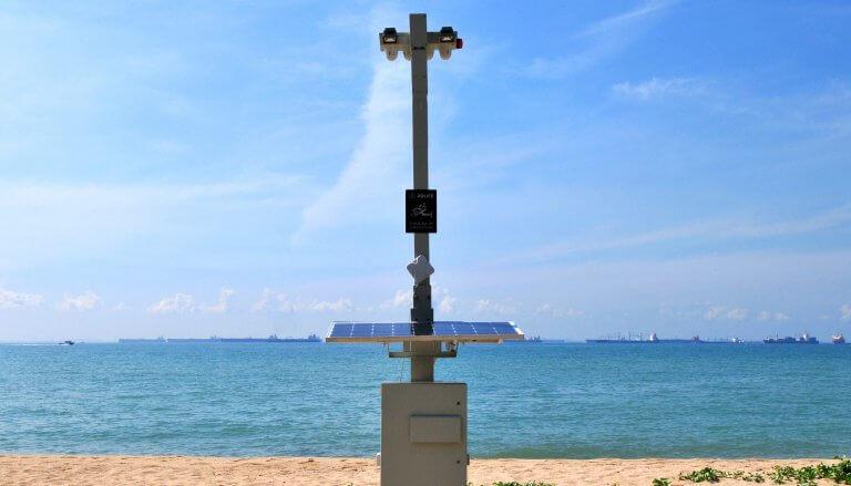 Strand überwachung Singapur Kamera Sicherheit