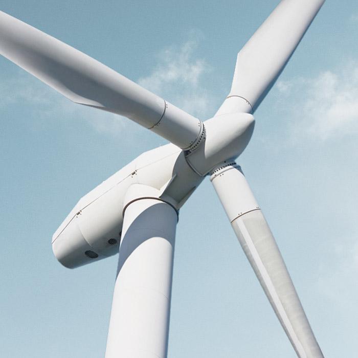 Windindustrie Windrad Himmel