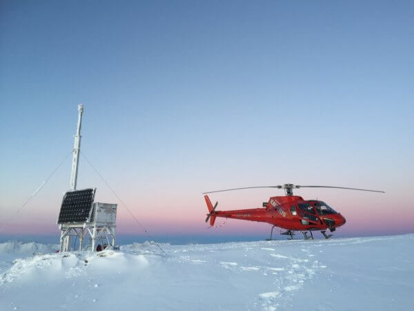 NVE Schnee Helikopter Erdrutsch Efoy