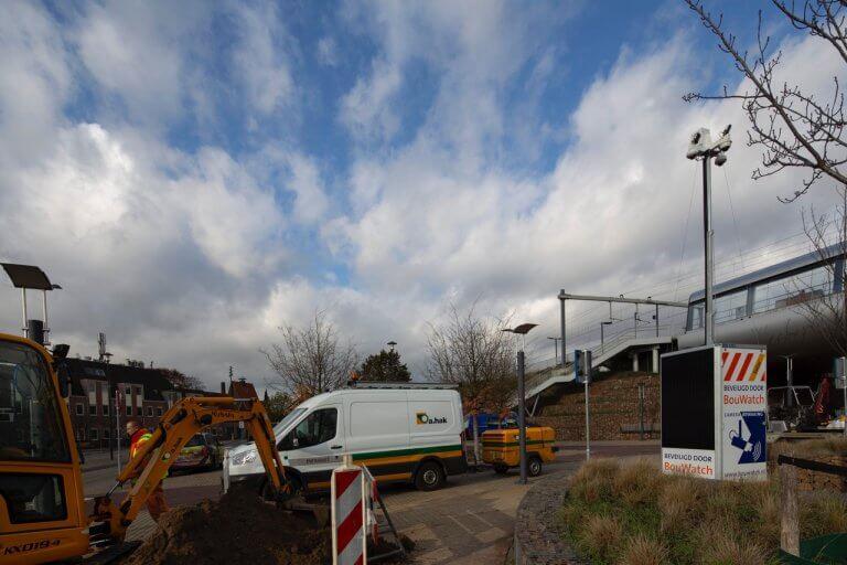 Baustellenüberwachung Innenstadt Baustelle