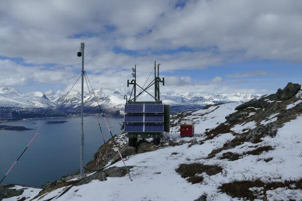 Berge Norwegen Schnee Efoy Pro Solar Erdrutschsensor