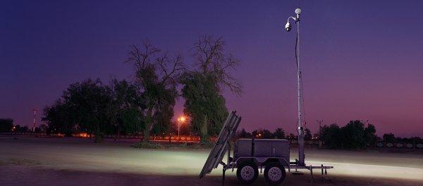Efoyprotrailer Stadion Sicherheit überwachung Kamera