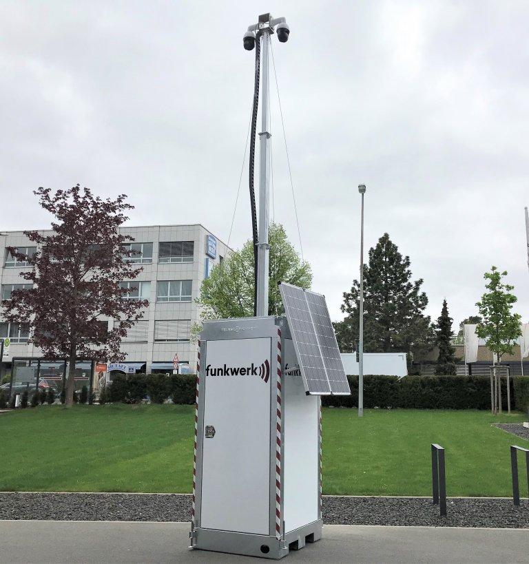 Funkwerk Mobile Kamerastation Brennstoffzelle Tower Wiese