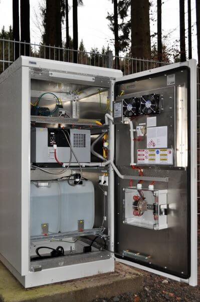 Mainsite Wasserzähler Offenes Cabinet