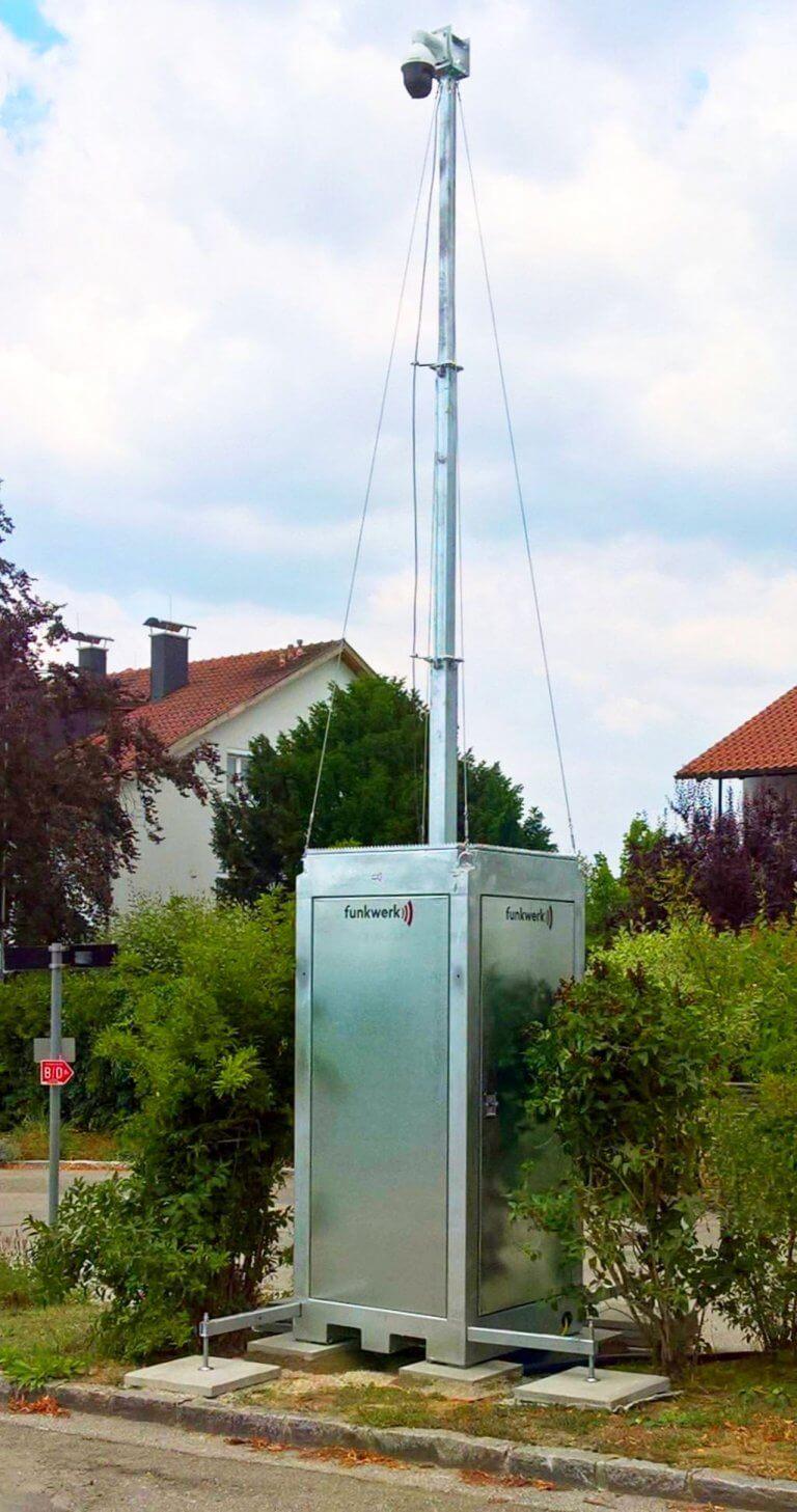 Mobile Kamerastation Lte Funkwerk Haeuser