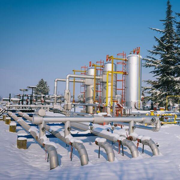 Scada Oil Gas Winter Schnee