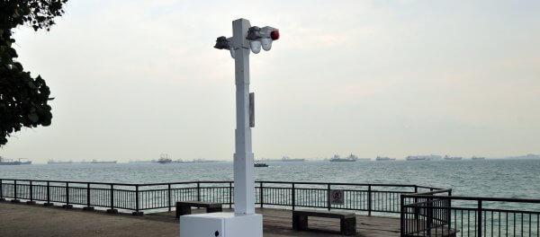 Sicherheit überwachung Singapur Kamera Küste