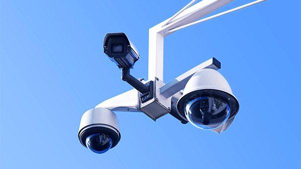 Sicherheit Ueberwachung 360 Grad Himmel